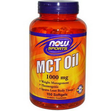 Now Foods, Sports, MCT Oil, 1,000mg, 150 Softgels