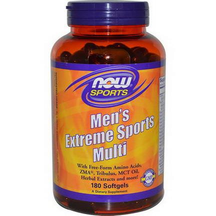 Now Foods, Sports, Men's Extreme Sports Multi, 180 Softgels