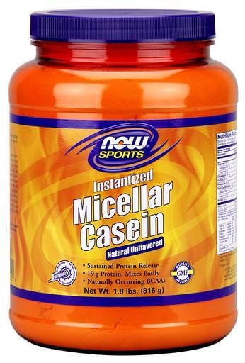 Now Foods, Sports, Micellar Casein, Instantized, Natural Unflavored 816g