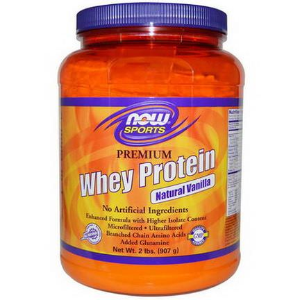 Now Foods, Sports, Premium Whey Protein, Natural Vanilla 907g