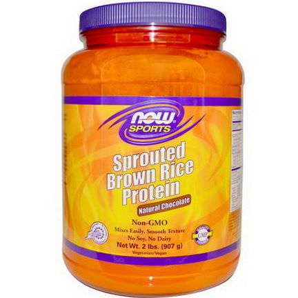 Now Foods, Sports, Sprouted Brown Rice Protein, Natural Chocolate 907g