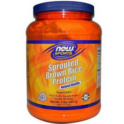 Now Foods, Sports, Sprouted Brown Rice Protein, Natural Vanilla 907g