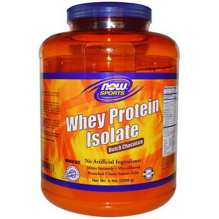 Now Foods, Sports, Whey Protein Isolate, Dutch Chocolate 2268g