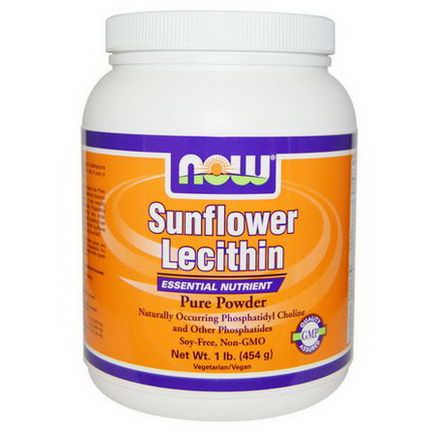 Now Foods, Sunflower Lecithin, Pure Powder 454g