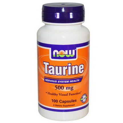 Now Foods, Taurine, 500mg, 100 Capsules