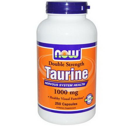 Now Foods, Taurine, Double Strength, 1000mg, 250 Capsules