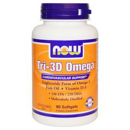 Now Foods, Tri-3D Omega, 90 Softgels