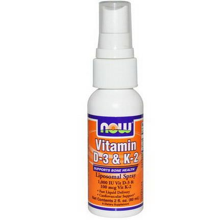 Now Foods, Vitamin D-3&K-2, Liposomal Spray 60ml