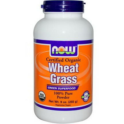 Now Foods, Wheat Grass, Certified Organic 255g