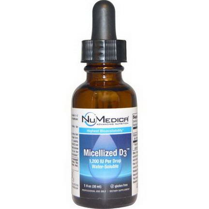 NuMedica, Micelized D3, 1,200 IU 30ml