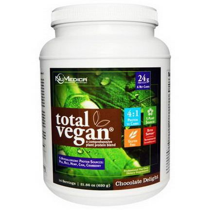 NuMedica, Total Vegan, Plant Protein Blend, Chocolate Delight 620g