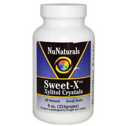 NuNaturals, Sweet-X, Xylitol Crystals 224g