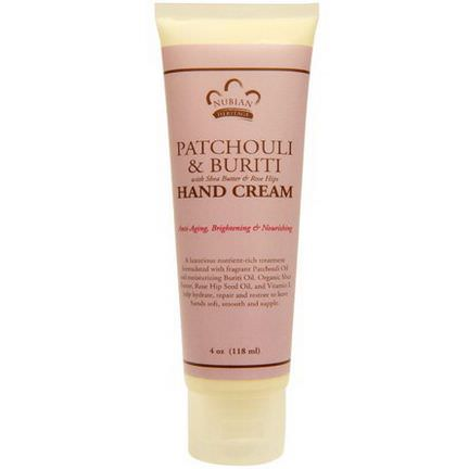 Nubian Heritage, Patchouli&Buriti Hand Cream 118ml