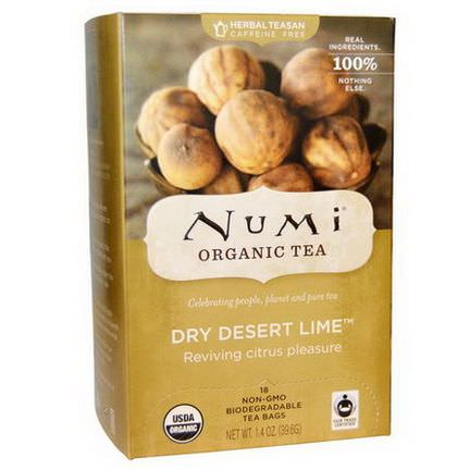Numi Tea, Organic Herbal Teasans, Dry Desert Lime Tea, 18 Tea Bags 39.6g Each