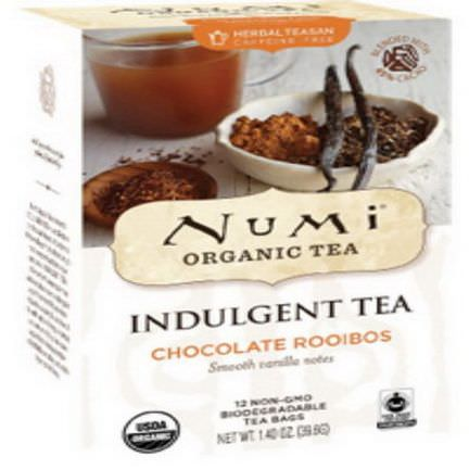 Numi Tea, Organic, Indulgent Tea, Chocolate Rooibos, 12 Tea Bags 39.6g