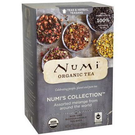 Numi Tea, Organic Numi's Collection, Teas&Herbal Teasans, 18 Tea Bags 39.6g