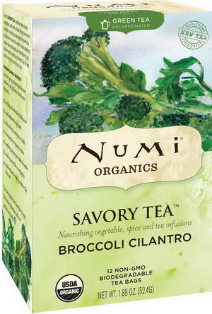 Numi Tea, Organics, Savory Tea, Broccoli Cilantro, 12 Tea Bags 52.4g
