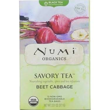 Numi Tea, Savory Tea, Beet Cabbage, 12 Tea Bags 57.1g