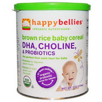 Nurture Inc. Happy Baby, Happybellies, Brown Rice Baby Cereal 198g