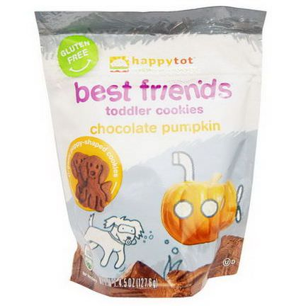 Nurture Inc. Happy Baby, Happytot, Organic Superfoods, Best Friends, Toddler Cookies, Chocolate Pumpkin 127.6g