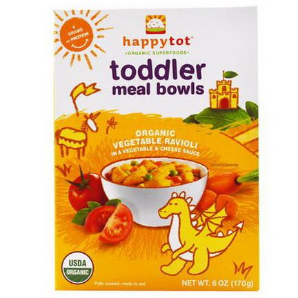 Nurture Inc. Happy Baby, Happytot, Toddler Meal Bowls, Organic Vegetable Ravioli 170g
