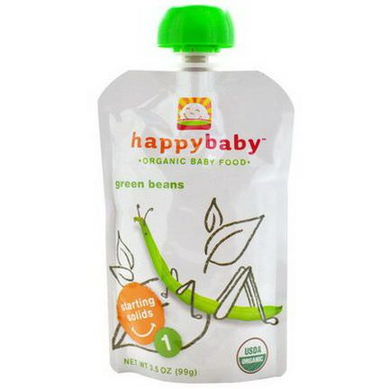 Nurture Inc. Happy Baby, Organic Baby Food, Green Beans, Stage 1 99g