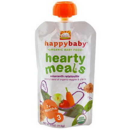 Nurture Inc. Happy Baby, Organic Baby Food, Hearty Meals, Amaranth Ratatouille, Stage 3 113g