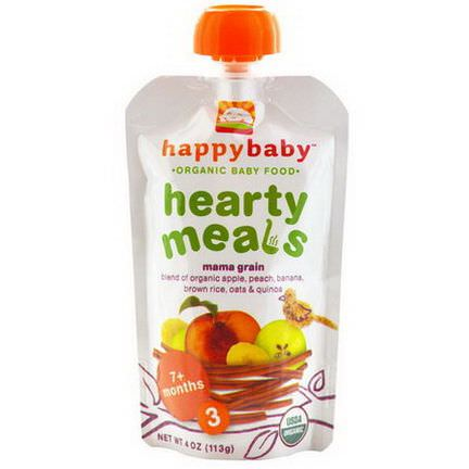 Nurture Inc. Happy Baby, Organic Baby Food, Hearty Meals, Mama Grain, Stage 3 113g
