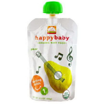 Nurture Inc. Happy Baby, Organic Baby Food, Stage 1, Pear 99g