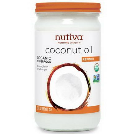 Nutiva, Organic Coconut Oil, Refined 680ml