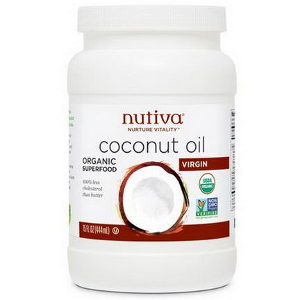 Nutiva, Organic Coconut Oil, Virgin 444ml