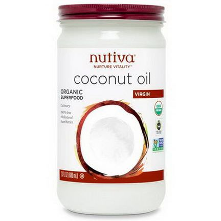 Nutiva, Organic Coconut Oil, Virgin 680ml