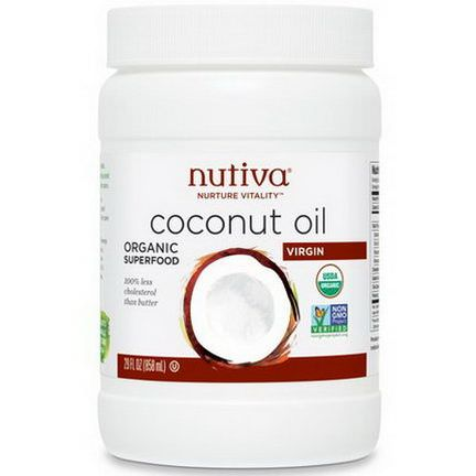 Nutiva, Organic Coconut Oil, Virgin 858ml