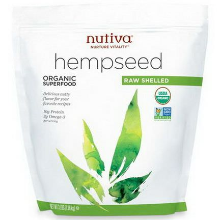Nutiva, Organic Hemp Seed Raw Shelled 1.36 kg