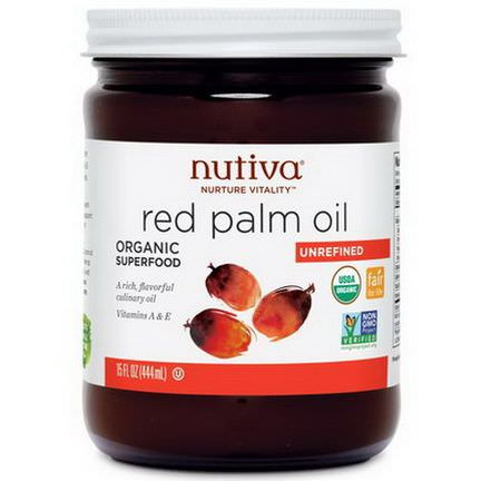Nutiva, Organic Red Palm Oil, Unrefined 444ml