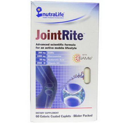 NutraLife, JointRite, 60 Enteric Coated Caplets
