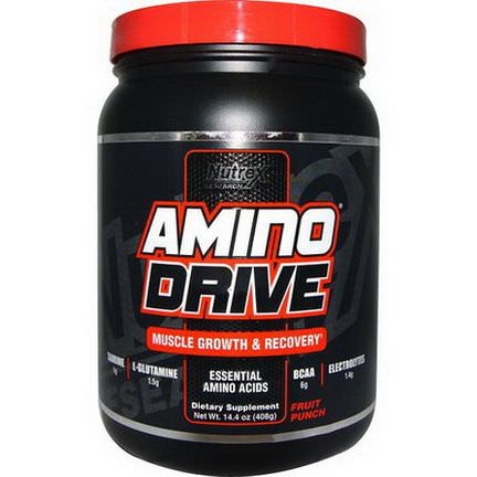 Nutrex Research Labs, Amino Drive, Muscle Growth&Recovery, Fruit Punch 408g
