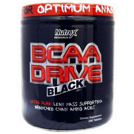 Nutrex Research Labs, BCAA Drive Black, 200 Tablets