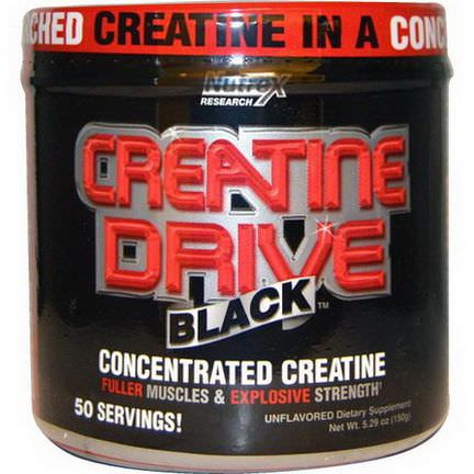 Nutrex Research Labs, Creatine Drive, Black, Concentrated Creatine, Unflavored 150g