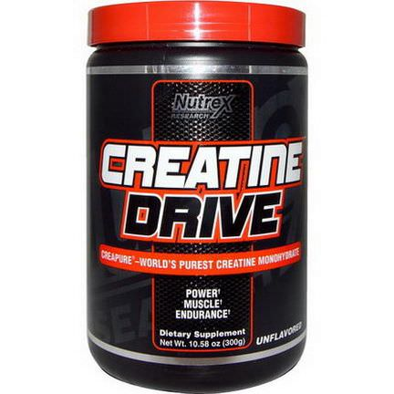 Nutrex Research Labs, Creatine Drive, Unflavored 300g