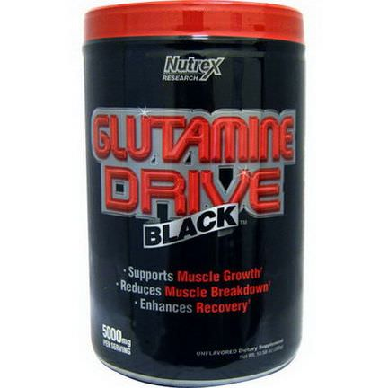 Nutrex Research Labs, Glutamine Drive Black, Unflavored 300g