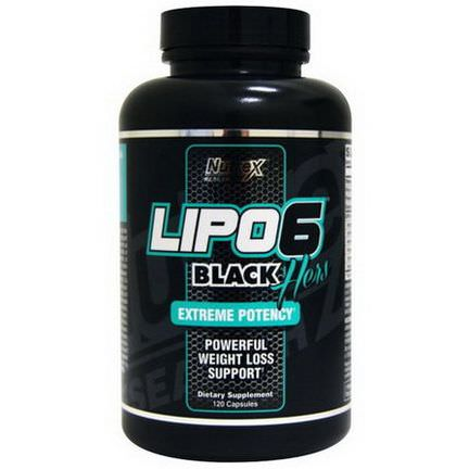 Nutrex Research Labs, Lipo6 Black, Hers, Extreme Potency, 120 Capsules