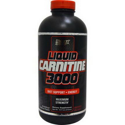 Nutrex Research Labs, Liquid Carnitine 3000, Berry Blast 473ml
