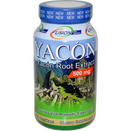 Fusion Diet Systems, Yacon Root Extract, 500mg, 60 Veggie Caps