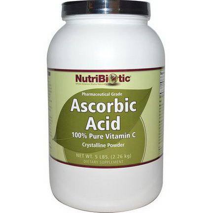 NutriBiotic, Ascorbic Acid, 100% Pure Vitamin C, Crystalline Powder 2.26 kg