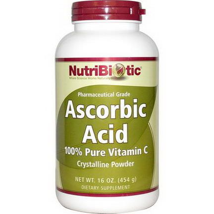 NutriBiotic, Ascorbic Acid, Crystalline Powder 454g