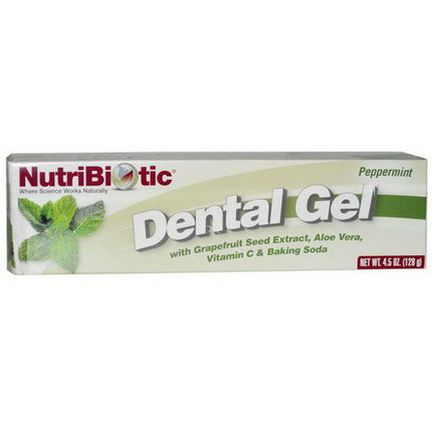 NutriBiotic, Dental Gel, Peppermint 128g