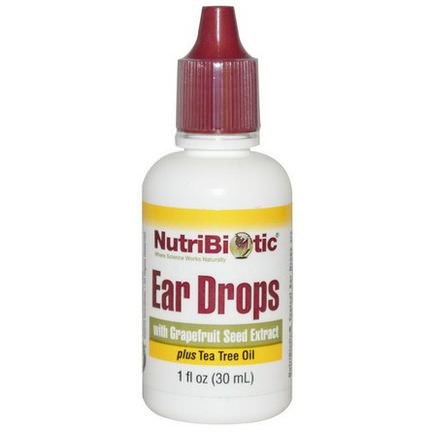 NutriBiotic, Ear Drops with Grapefruit Seed Extract 30ml