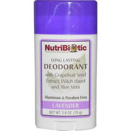 NutriBiotic, Long Lasting Deodorant Stick, Lavender 75g