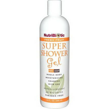 NutriBiotic, Super Shower Gel, Fresh Fruit, Non-Soap 355ml